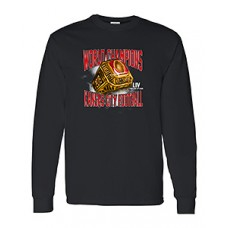 """CHIEFS SuperBowl Champs """"RING"""" Long-Sleeved T-shirt (black)"""